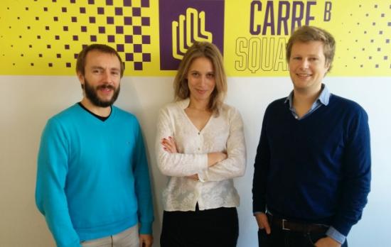 Les co-fondateurs de Fluicity (John Meiss, Julie de Pimodan, Nicolas de Briey)